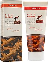 Düfte, Parfümerie und Kosmetik Gesichtsreinigungsschaum mit rotem Ginsengextrakt - Farmstay Red Ginseng Pure Cleansing Foam
