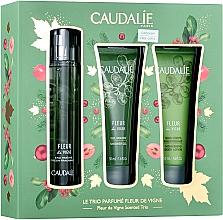 Düfte, Parfümerie und Kosmetik Caudalie Fleur De Vigne - Duftset (Eau de Toilette 50ml + Duschgel 50ml + Körperlotion 50ml)