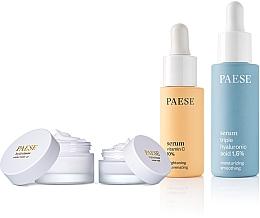 Düfte, Parfümerie und Kosmetik Gesichtspflegeset - Paese (Gesichtsserum 15ml + Gesichtsserum 30ml + Gesichtsbase 30ml + Gesichtscreme 15ml)