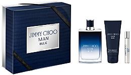 Düfte, Parfümerie und Kosmetik Jimmy Choo Man Blue - Duftset (Eau de Toilette/100ml + After Shave Balsam/100ml + Mini/7,5ml)