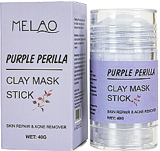 Düfte, Parfümerie und Kosmetik Reinigende und entgiftende Gesichtsmaske in Stick Perilla - Melao Purple Perilla Clay Mask Stick