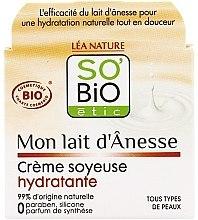 Düfte, Parfümerie und Kosmetik Feuchtigkeitsspendende Gesichtscreme mit Eselsmilch umd Aprikosenöl - So'Bio Etic Mon Lait d'Anesse Silky Moisturizing Cream