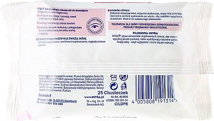 Make-up-Entfernungstücher für trockene und empfindliche Haut 25 St. - Nivea Aqua Effect Wipes — Bild N2