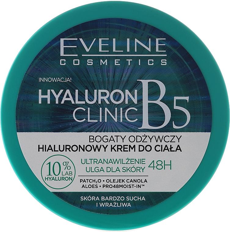 Pflegende Körpercreme mit Hyaluronsäure - Eveline Cosmetics Hyaluron Clinic Cream