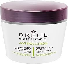 Regenerierende Maske für schwaches Haar mit Bachblüten und Leinsamenöl - Brelil Bio Treatment Antipollution Regenerating Mask — Bild N1
