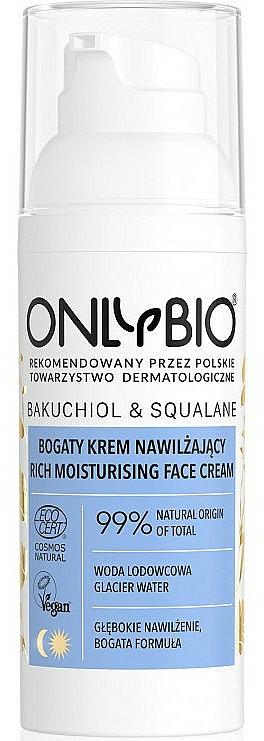 Feuchtigkeitsspendende Gesichtscreme - Only Bio Bakuchiol&Squalane Rich Moisturising Face Cream — Bild N1