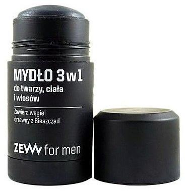 3in1 Naturseife für Gesicht, Körper und Haar - Zew For Men 3 in 1 Soap For Face Body And Hair — Bild N2
