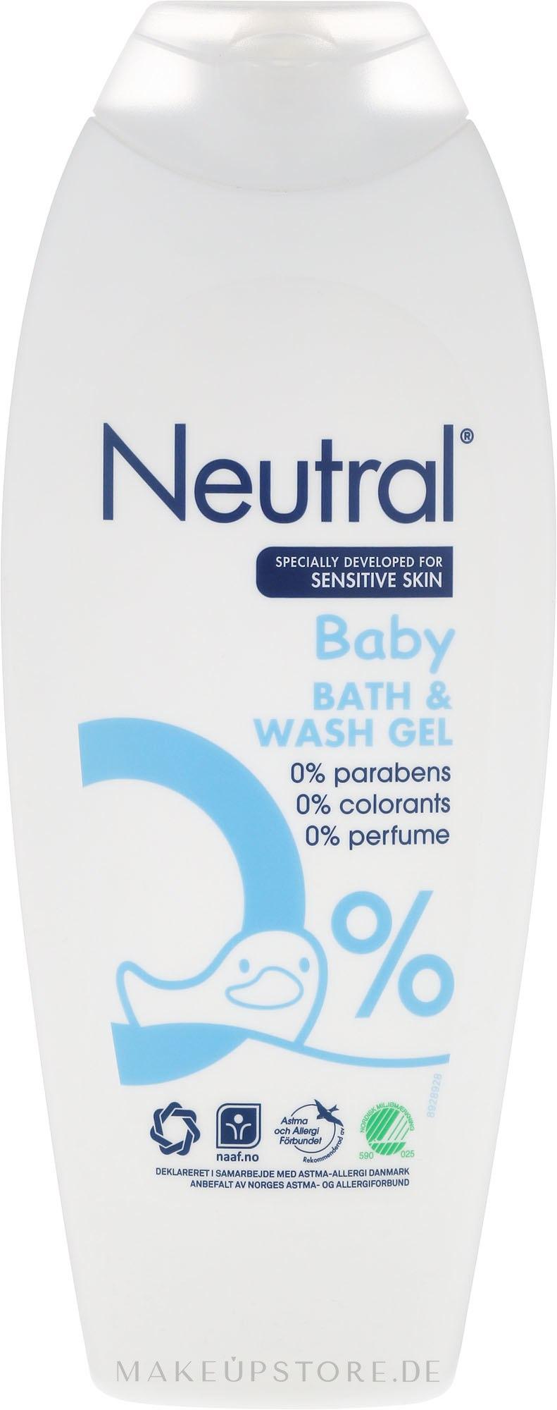 Baby Wasch- und Badegel für emfindliche Haut - Neutral Baby Bath & Wash Gel — Bild 250 ml