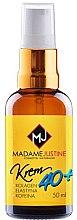 Düfte, Parfümerie und Kosmetik Feuchtigkeitsspendende Gesichtscreme mit Hyaluronsäure, Elastin, Kollagen und Koffein 40+ - Madame Justine Moisturizing Cream With Hyaluronic Acid 40+