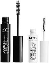 Düfte, Parfümerie und Kosmetik Schminkset (Wimperntusche 10ml+Wimpern-Primer 0,9ml) - NYX Professional Makeup Double Stacked Mascara