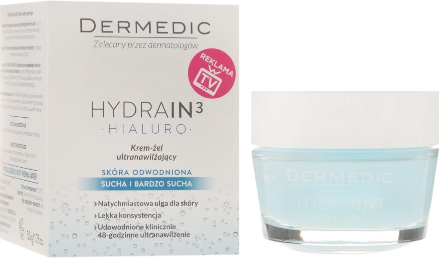 Feuchtigkeitsspendendes Creme-Gel für das Gesicht - Dermedic Hydrain3 Hialuro