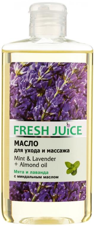 Pflege- und Massageöl für den Körper mit Minze, Lavendel und Mandelöl - Fresh Juice Energy Mint&Lavender+Almond Oil — Bild N1