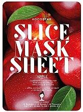Düfte, Parfümerie und Kosmetik Feuchtigkeitsspendende Tuchmaske mit Apfelextrakt - Kocostar Slice Mask Sheet Apple