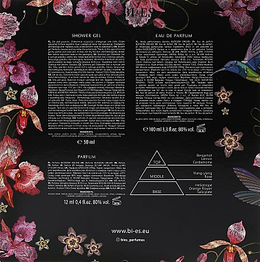Bi-Es Blossom Orchid - Dudtset (Eau de Parfum/100ml + Duschgel/50ml + Parfum/12ml) — Bild N2