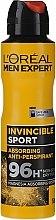 Düfte, Parfümerie und Kosmetik Deospray Antitranspirant - L'Oreal Men Expert Invincible Sport Deodorant 96H