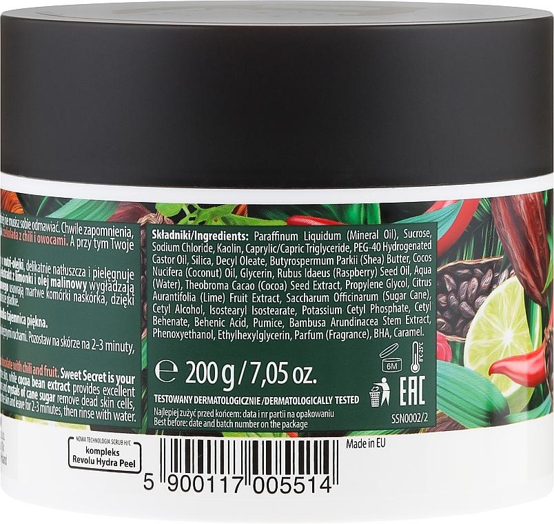 Pflegende Körperpeeling-Maske mit Chili, Himbeere, Limette und Kakaobohnenextrakt - Farmona Sweet Secret Chocolate Peeling-mask — Bild N3