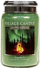 Düfte, Parfümerie und Kosmetik Duftkerze Fireside Fir - Village Candle Fireside Fir Glass Jar