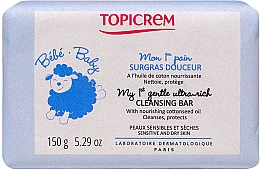 Düfte, Parfümerie und Kosmetik Sanfte Reinigungsseife für empfindliche Babyhaut - Topicrem Bebe Baby my 1st Gentle Ultra Rich Cleansing Bar