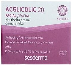 Düfte, Parfümerie und Kosmetik Nährende Anti-Aging Nachtcreme mit Glykolsäure - SesDerma Laboratories Acglicolic 20 Nourishing Cream