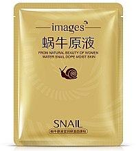 Düfte, Parfümerie und Kosmetik Feuchtigkeitsspendende Tuchmaske mit Schneckenfiltrat - Images Water Snail Dope Moist Skin Gold