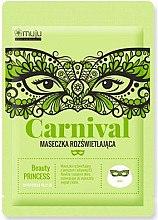 Düfte, Parfümerie und Kosmetik Aufhellende Tuchmaske mit Grünkohl und Vitaminen - Muju Carnival Beauty Princess