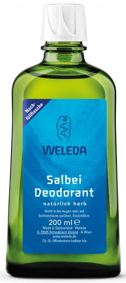 Salbei-Deospray mit ätherischen Ölen - Weleda Sage Deodorant Refill Bottle (Nachfüllflasche)