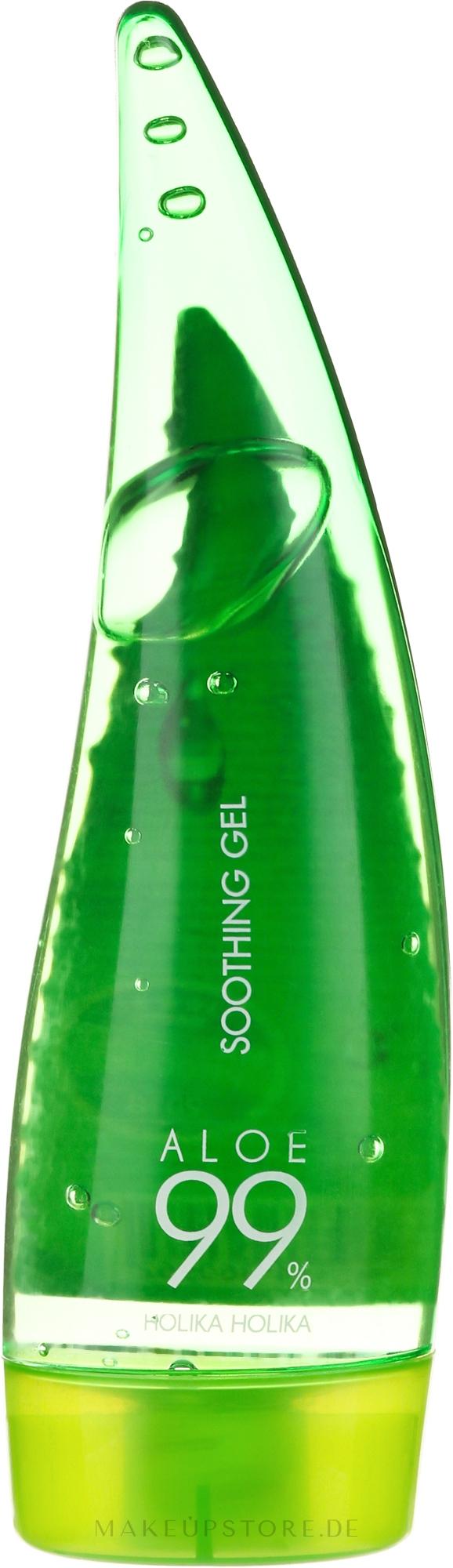 Beruhigendes Feuchtigkeitsgel für Gesicht, Haar und Körper mit 99% Aloe Vera - Holika Holika Aloe 99% Soothing Gel — Bild 55 ml