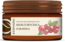 """Düfte, Parfümerie und Kosmetik Feuchtigkeitsspendende und regenerierende Körperbutter """"Cranberry"""" - Bosphaera"""