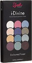 Düfte, Parfümerie und Kosmetik Lidschattenpalette - Sleek MakeUP i-Divine Mineral Based Eyeshadow Palette Enchanted Forest