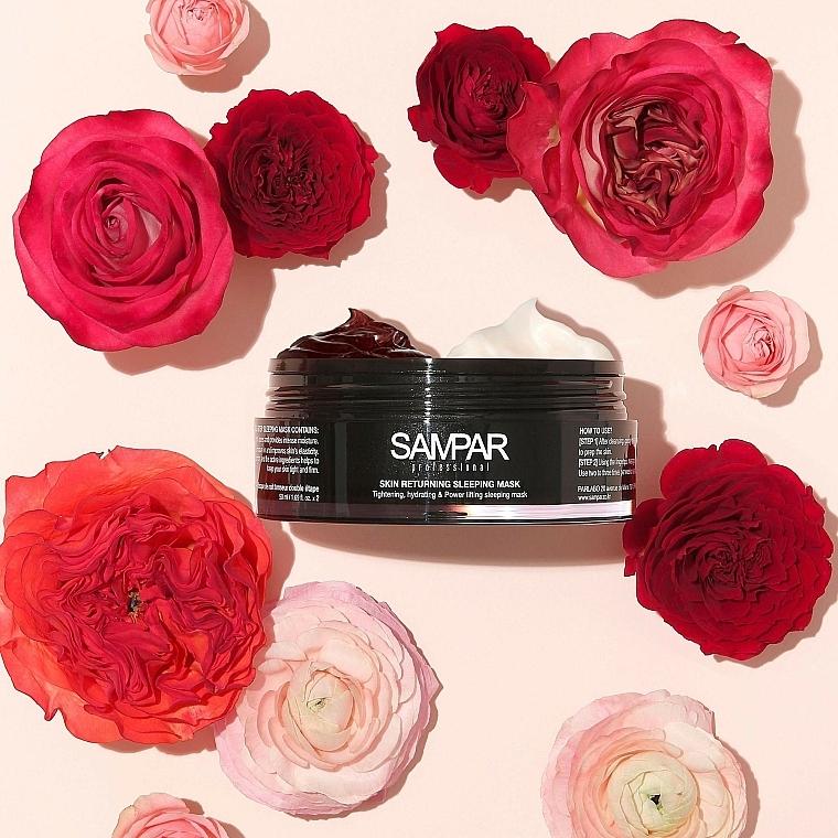 Feuchtigkeitsspendende und regenerierende 2in1 Nachtmaske für das Gesicht mit Rosenblättern - Sampar Skin Returning Sleeping Mask — Bild N3