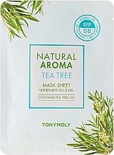 Düfte, Parfümerie und Kosmetik Beruhigende Tuchmaske für das Gesicht mit Teebaumöl - Tony Moly Natural Aroma Tea Tree Oil Mask