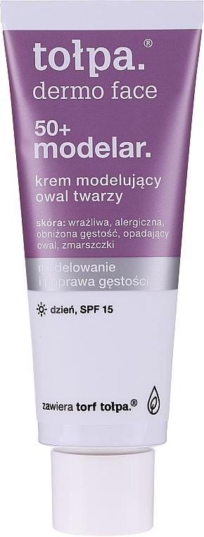 Modellierende und aufhellende Tagescreme gegen Verfärbungen 50+ - Tolpa Dermo Face Modelar 50+ Day Cream SPF15 — Bild N3