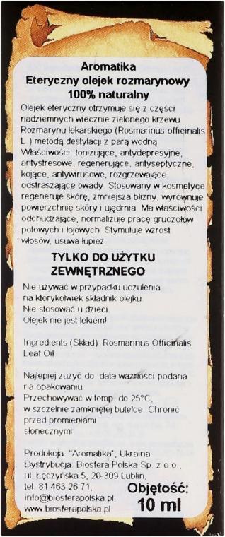 Ätherisches Bio Rosmarinöl - Aromatika  — Bild N3