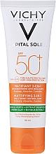 Düfte, Parfümerie und Kosmetik 3in1 Mattierende Sonnenschutzlotion für das Gesicht SPF 50+ - Vichy Capital Soleil Mattifying 3-in-1 SPF50