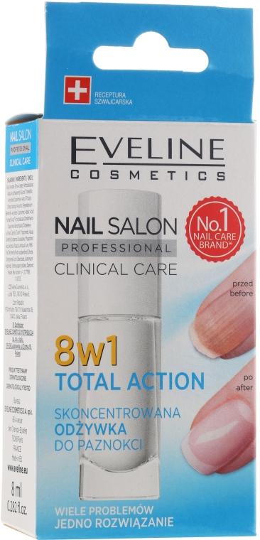 8in1 Intensive Nagelpflege - Eveline Cosmetics Nail Salon Clinical Care 8 in 1