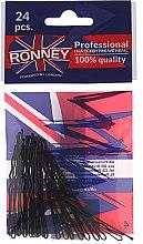 Düfte, Parfümerie und Kosmetik Haarklammern schwarz 60 mm, 24 St. - Ronney Black Hair Bobby Pins