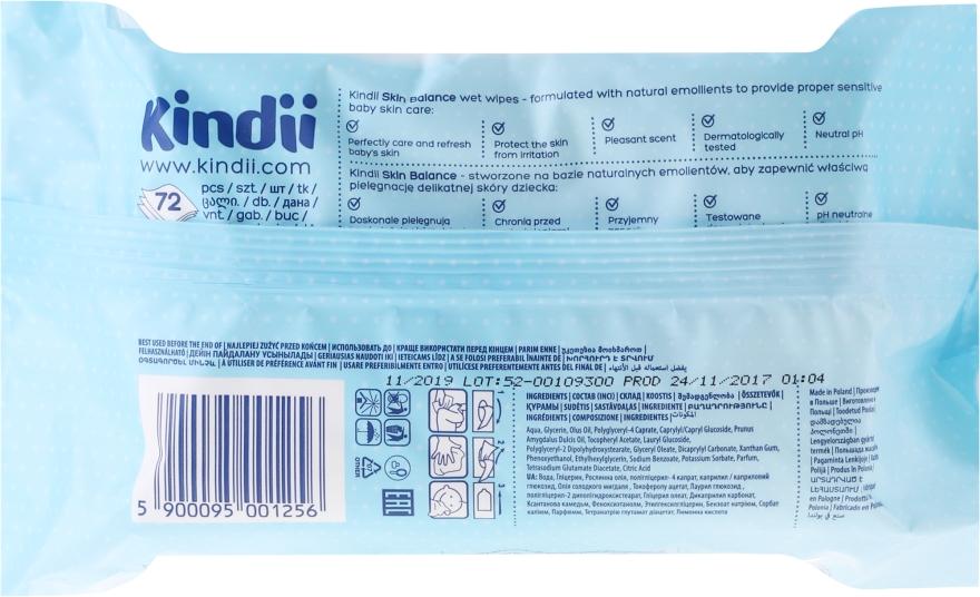Sanfte und beruhigende Baby Feuchttücher, 72 St - Cleanic Kindii Skin Balance Wipes — Bild N2