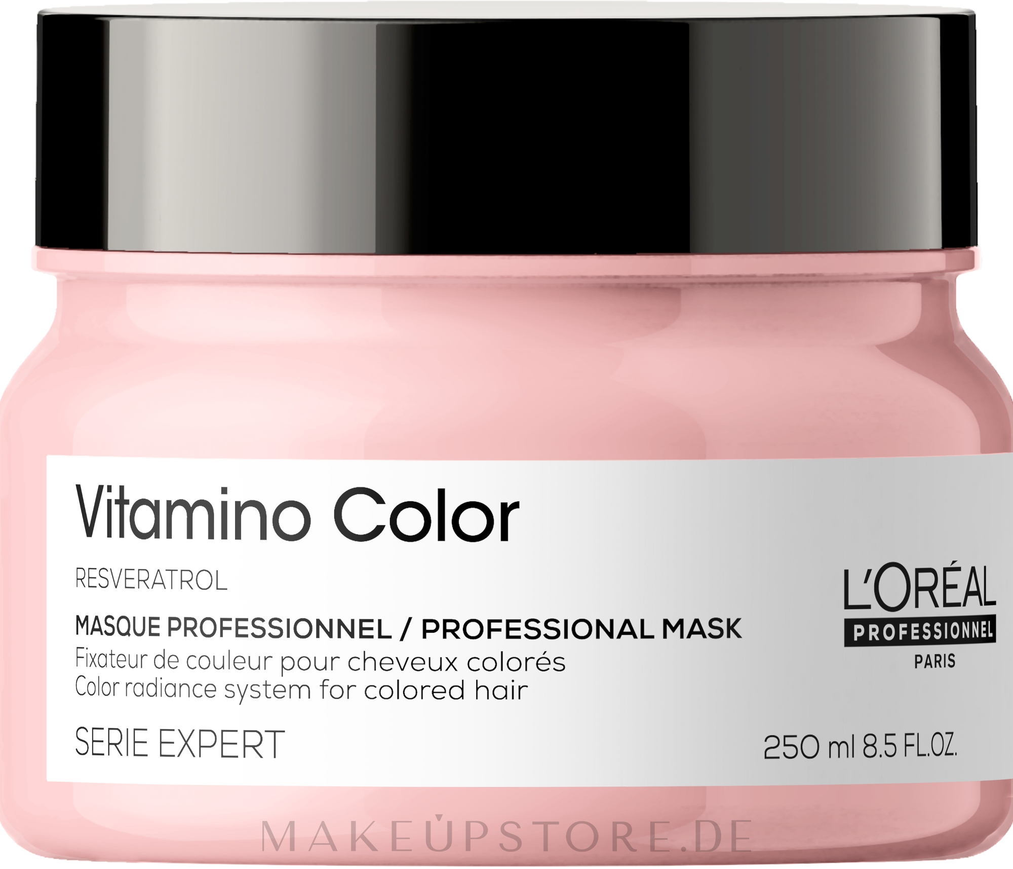 Haarmaske für coloriertes Haar - L'Oreal Professionnel Serie Expert Vitamino Color Resveratrol Mask — Bild 250 ml NEW