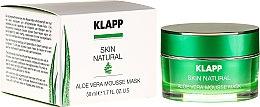 Düfte, Parfümerie und Kosmetik Beruhigende Gesichtsmaske mit Aloe Vera, Jojobaöl und Spirulina - Klapp Skin Natural Aloe Vera Mousse Mask