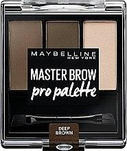 Düfte, Parfümerie und Kosmetik Augenbrauen-Make-up-Palette - Maybelline Master Brow Pro Palette Kit