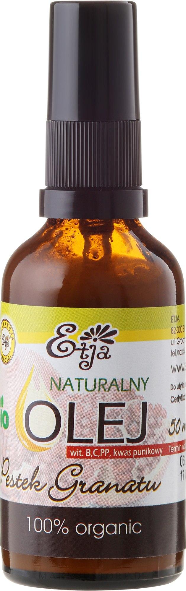 Natürliches Granatapfelkernenöl - Etja Bio — Bild 50 ml