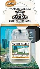Düfte, Parfümerie und Kosmetik Auto-Lufterfrischer Clean Cotton - Yankee Candle Clean Cotton Car Jar Ultimate