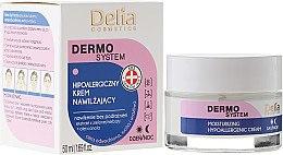 Düfte, Parfümerie und Kosmetik Hypoallergene und feuchtigkeitsspendende Gesichtscreme - Delia Dermo System Moisturizing Hypoallergenic Cream