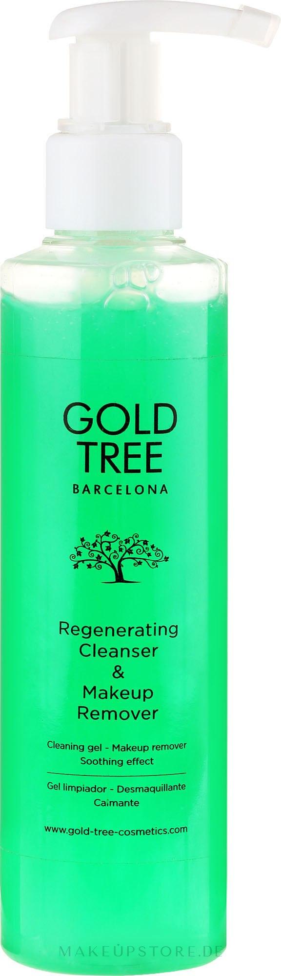 Regenerierendes Reinigungsgel für fettige Haut - Gold Tree Barcelona Regenerating Cleanser & Makeup Remover — Bild 200 ml