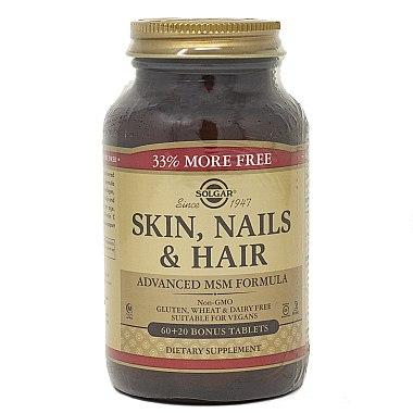 Nahrungsergänzungsmittel-Komplex für Gesicht, Haar und Nägel - Solgar Solgar Skin Nails And Hair Formula — Bild N4