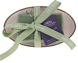 Düfte, Parfümerie und Kosmetik Natürliche Olivenseife mit ovaler keramischer Seifenschale - Le Chatelard 1802 Olive Soap