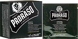 Düfte, Parfümerie und Kosmetik Erfrischende Feuchttücher für Bart und Gesicht mit Zypresse- und Vetyverduft - Proraso Cypress & Vetyver Refreshing Tissues