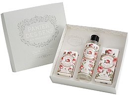 Düfte, Parfümerie und Kosmetik Set - Panier Des Sens Rose (sh/gel/250ml + hand/cr/75ml + soap/150g)