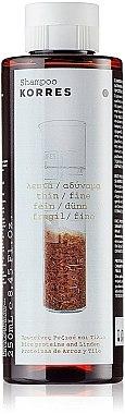 Shampoo für stumpfes und sprödes Haar - Korres Rice Proteins And Linden Shampoo For Thin And Fine Hair — Bild N1