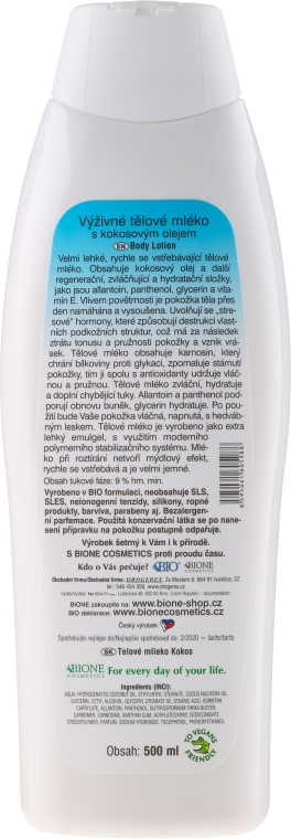 Körperlotion mit Kokosnussöl - Bione Cosmetics Coconut Nourishing Body Lotion — Bild N2